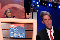DENVER, CO - August 27, 2008: Senator John Kerry speaking at the 2008 Democratic National Convention at the Pepsi Center in Denver, Colorado.
