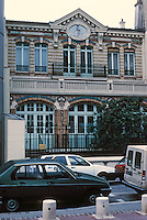 """Paris: Zone d'Action Concertee, old building. This lovely little municipal building of 1898-- a """"creche municipal""""--would have been leveled under the 1973 plan. See PROG. ARCH. JULY 1987. Photo '90."""