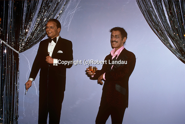Wax Figures of Frank Sinatra and Sammy Davis Jr., The Wax Museum, Buena Park, CA, 1981