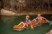 Water Rafting on underground River,  Explor,  Riviera Maya, Yucatan, Mexico.