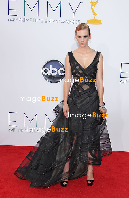 January Jones, The 64th Annual Primetime Emmy Awards arrivals at the Nokia Theatre, L.A. Live in Los Angeles. September 23, 2012.