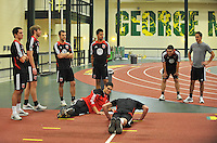 D.C. United during the pre-season fitness training session at George Manson University before departing for Bradenton Florida to get ready for the 2013 season, Friday January 18, 2013.