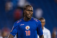 Haiti forward Leonel Saint Preux (18). Honduras defeated Haiti 2-0 during a CONCACAF Gold Cup group B match at Red Bull Arena in Harrison, NJ, on July 8, 2013.