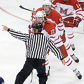 Bryon Paulazzo (Miami - 15), Cameron Schilling (Miami - 5) - The University of New Hampshire Wildcats defeated the Miami University RedHawks 3-1 (EN) in their NCAA Northeast Regional Semi-Final on Saturday, March 26, 2011, at Verizon Wireless Arena in Manchester, New Hampshire.