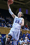 20 March 2015: Duke's Rebecca Greenwell. The Duke University Blue Devils hosted the University at Albany Great Danes at Cameron Indoor Stadium in Durham, North Carolina in a 2014-15 NCAA Division I Women's Basketball Tournament first round game.