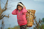 A girl in Dhawa, a village in the Gorkha District of Nepal.