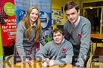 Pictured at the Science quiz at IT Tralee South Campus on Thursday were students from Intermediate School Killorglin, Rebecca Sealy, Tom Paine, Darragh O'Shea