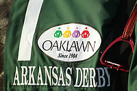 HOT SPRINGS, AR - APRIL 15: The silks before the running of the Arkansas Derby at Oaklawn Park on April 15, 2017 in Hot Springs, Arkansas. (Photo by Justin Manning/Eclipse Sportswire/Getty Images)