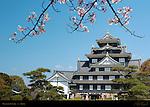 Okayama Castle Crow Castle South exterior Entrance Okayama Japan