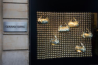 Gerard Darel shop window in Boulevard Saint Germain, Paris, France