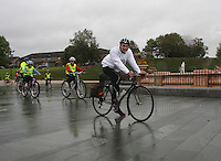 Cycling legend Graeme Obree backing Sky Ride Glasgow and freshnlo Pedal for Scotland at the launch at the People's Palace, Glasgow Green, Glasgow on 11.9.11.