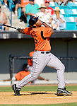 5 March 2006: Leo Daigle , infielder for the Baltimore Orioles, at bat during a Spring Training game against the Washington Nationals. The Nationals defeated the Orioles 10-6 at Space Coast Stadium, in Viera Florida...Mandatory Photo Credit: Ed Wolfstein..