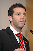 DC United head coach Ben Olsen, at the 2011 Season Kick off Luncheon, at the Marriott Hotel in Washington DC, Wednesday March 16 2011.