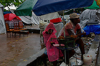 Port Au Prince, Haiti, April 12, 2010.Three months after the earthquake, almost 2 millions Haitians are still homeless and will have to spend the rainy season outside in very hard conditions..