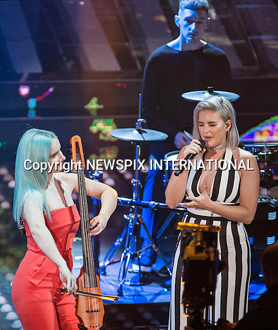 08.02.2017; San  Remo, Italy: ANNE-MARIE &amp; GRACE CHATTO (CLEAN BANDIT)<br /> perform at the San Remo Music Festival.<br /> Mandatory Credit Photo: &copy;NEWSPIX INTERNATIONAL<br /> <br /> PHOTO CREDIT MANDATORY!!: NEWSPIX INTERNATIONAL(Failure to credit will incur a surcharge of 100% of reproduction fees)<br /> <br /> IMMEDIATE CONFIRMATION OF USAGE REQUIRED:<br /> Newspix International, 31 Chinnery Hill, Bishop's Stortford, ENGLAND CM23 3PS<br /> Tel:+441279 324672  ; Fax: +441279656877<br /> Mobile:  0777568 1153<br /> e-mail: info@newspixinternational.co.uk<br /> Please refer to usage terms. All Fees Payable To Newspix International