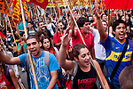 Argentinians march during May Day or Labour day around country