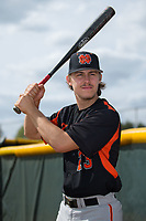 North Davidson Knights center fielder Austin Beck (23) poses for a photo following the game against the Alexander Central Cougars at Bob Gryder Stadium on March 25, 2017 in Taylorsville, North Carolina.  The Knights defeated the Cougars 3-0.  (Brian Westerholt/Four Seam Images)
