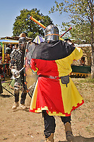 The Renaissance Fair is held each September at the historic museum of El Rancho de Las Golondrinas near Santa Fe and features dancers, kinghts, acrobats and many other performers all celebrating the culture and life style of the Medieval Middle Ages. Knights in home made armor from the Society for Creative Anachronism do battle to win the favor of the King and Queen.