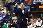 13 March 2015: Notre Dame head coach Mike Brey. The Notre Dame Fighting Irish played the Duke University Blue Devils in an NCAA Division I Men's basketball game at the Greensboro Coliseum in Greensboro, North Carolina in the ACC Men's Basketball Tournament semifinal game. Notre Dame won the game 74-64.