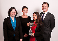 The Hammond Trophy was won by Manda Banerji, of Nelsons, who is pictured with the runners-up, from left, Claire Garton of Cartwright King, Sarah Murray of Fraser Brown and Alex Chapman of VHS Fletchers