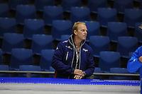 SCHAATSEN: HEERENVEEN: 28-09-2013, IJsstadion Thialf, Trainingwedstrijd, Rintje Ritsma trainer Friese Schaats Selectie, ©foto Martin de Jong