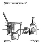 (Stew ingredients: this, that and the other)