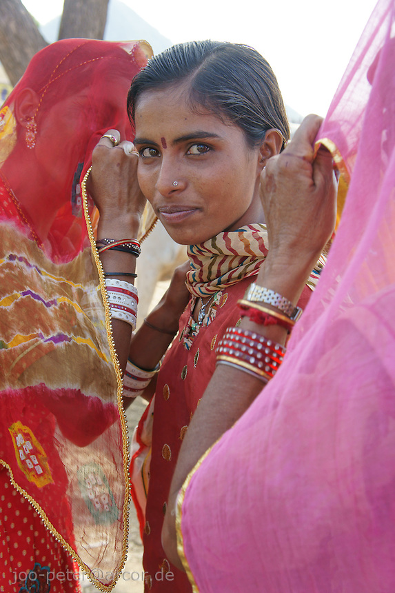 woman visiting camel fair in Pushkar, Rajastan, India