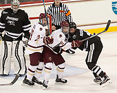 Hayden Hawkey (PC - 31), Ryan Fitzgerald (BC - 19), Colin White (BC - 18), Steven Ruggiero (PC - 4) - The Boston College Eagles defeated the visiting Providence College Friars 3-1 on Friday, October 28, 2016, at Kelley Rink in Conte Forum in Chestnut Hill, Massachusetts.The Boston College Eagles defeated the visiting Providence College Friars 3-1 on Friday, October 28, 2016, at Kelley Rink in Conte Forum in Chestnut Hill, Massachusetts.