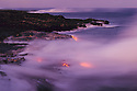 Pu'u O'u volcano eruption lava flow entering ocean; Hawaii Volcanoes National Park..
