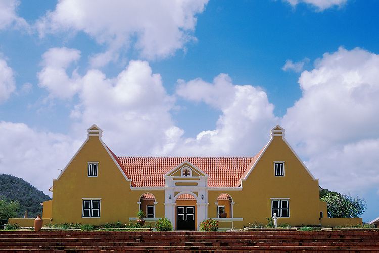 Landhuis Groot Santa Marta, former plantation house now serving as care and work facility for the physically and mentally challenged; Curacao, Netherlands Antilles.