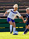 2 September 2007: University of Central Arkansas Sugar Bears' Lauren Carter (17), a Senior from Plano, Texas, in action against the University of New Hampshire Wildcats at Historic Centennial Field in Burlington, Vermont. The Wilcats shut out the Sugar Bears 3-0 during the TD Banknorth Soccer Classic...Mandatory Photo Credit: Ed Wolfstein Photo