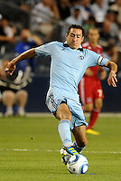 Davy Arnaud Sporting KC...Sporting KC were held to a scoreless tie with Chicago Fire in the inauguarl game at LIVESTRONG Sporting Park, Kansas City, Kansas.