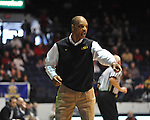 "LSU' head coach Trent Johnson at the C.M. ""Tad"" Smith Coliseum in Oxford, Miss. on Saturday, February 25, 2012. (AP Photo/Oxford Eagle, Bruce Newman).."