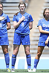 28 August 2011: Duke's Kelly Cobb. The Duke University Blue Devils defeated the Fighting Irish of Notre Dame 3-1 at Fetzer Field in Chapel Hill, North Carolina in an NCAA Women's Soccer game.
