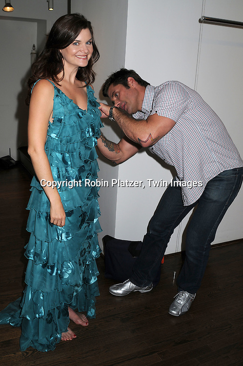 Heather Tom and Jack Mackenroth at a fitting for her Daytime Emmy Awards dress on June 12, 2008 in New York City. Project Runway?s Jack Mackenroth and Emmy Award-winning star of the Bold and the Beautiful, Heather Tom, are pleased to announce their collaboration on a very special project for the 35th Annual Daytime Emmys on June 20, 2008.  Renowned soap actress Tom wanted to do something special to celebrate her 12th nomination and met with Mackenroth to have him design a one of a kind gown for her Emmy moment.  The pair also decided to help their many friends with HIV, and auction the dress off to benefit three HIV/AIDS charities ? amfAR, National Association of People with AIDS, and San Antonio AIDS Foundation.  The auction is perfectly timed to bring attention to National HIV Testing Day on June 27th ? one week after the Daytime Emmys. .... Robin Platzer, Twin Images