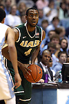 27 December 2014: UAB's Robert Brown. The University of North Carolina Tar Heels played the University of Alabama Birmingham Blazers in an NCAA Division I Men's basketball game at the Dean E. Smith Center in Chapel Hill, North Carolina. UNC won the game 89-58.