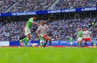 FUSSBALL   1. BUNDESLIGA   SAISON 2012/2013    32. SPIELTAG Hamburger SV - VfL Wolfsburg          05.05.2013 Allgemeine Spielszene in der Imtech Arena