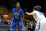 26 October 2014: Ka'lia Johnson (14) and Jenna Frush (35). The Duke University Blue Devils held their annual Blue-White Game at Cameron Indoor Stadium in Durham, North Carolina in preparation of the upcoming 2014-15 NCAA Division I Women's Basketball season.