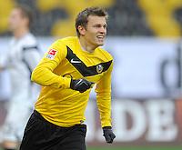 Fussball, 2. Bundesliga, Saison 2011/12, SG Dynamo Dresden - FSV Frankfurt, Sonntag (05.12.11), gluecksgas Stadion, Dresden. Dresdens Zlatko Dedic jubelnd.