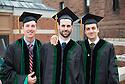 Damian Ray, Daniel Fischer, MAtthew Graf. Commencement class of 2013.
