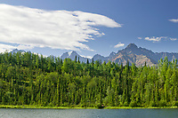 Chugach mountains along the Glenn Highway, Alaska