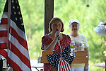 Elizabeth Anne Smith sings the national anthem at the dedication of the new Veterans Park in Oxford, Miss. on Saturday, June 30, 2012.