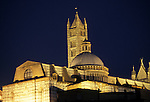 The Duomo Lit Up at Night, Siena, Tuscany, Italy
