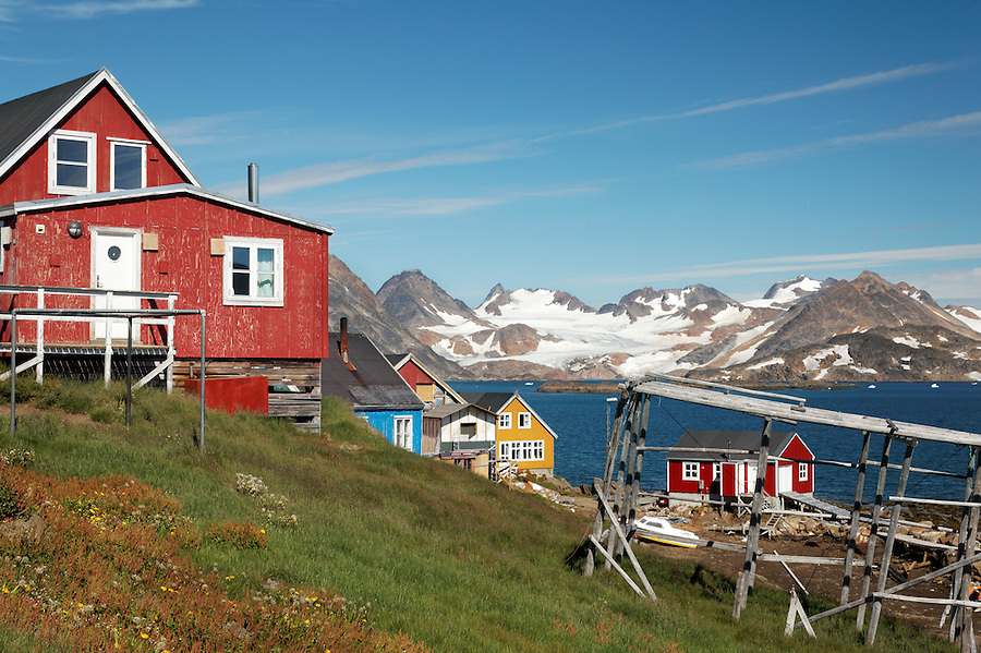 Settlement of Kulusuk on Torsuut Tunoq sound, East Greenland