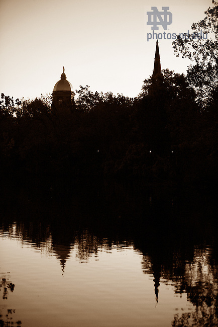 Dome and Basilica with St. Mary's Lake