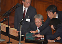 June 26, 2012, Tokyo, Japan - Clerks tally the ballots following voting on the sales tax hike legislation during a plenary session of the Diets lower house in Tokyo on Tuesday, June 26, 2012. The House of Representatives passed the sales tax hike legislation with the backing of two main opposition parties by 363 to 96 votes. (Photo by Natsuki Sakai/AFLO)