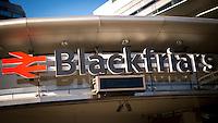 Blackfriars Train Station Sign - Apr 2014.