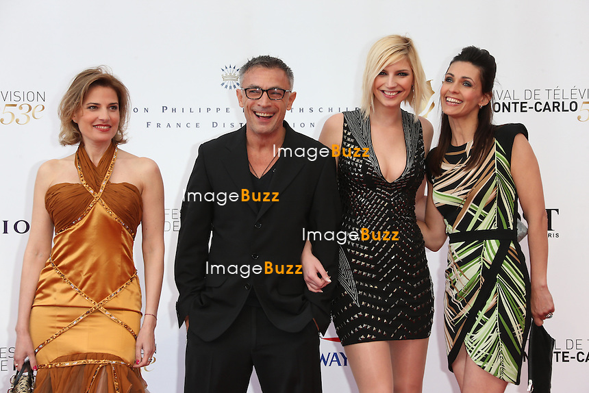 CPE/Christine Lemler, Frederic Deban, Nadege Lacroix and Adeline Blondieau attend the opening ceremony of the 53rd Monte Carlo TV Festival on June 9, 2013 in Monte-Carlo, Monaco.