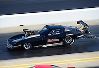 Apr. 13, 2012; Concord, NC, USA: NHRA pro mod driver Ike Maier during qualifying for the Four Wide Nationals at zMax Dragway. Mandatory Credit: Mark J. Rebilas-