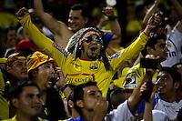 Ecuador's Fans celebrates the third goal of Ecuador against Chile during their friendly match at the Citi-Field Stadium in New York, August 15, 2012. Photo by Eduardo Munoz Alvarez / VIEW.